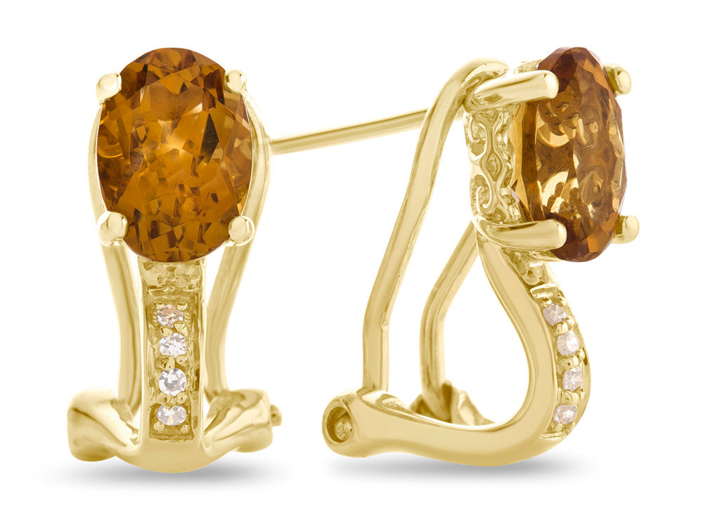 LALI Classics 14kt Yellow Gold Citrine Oval Earrings