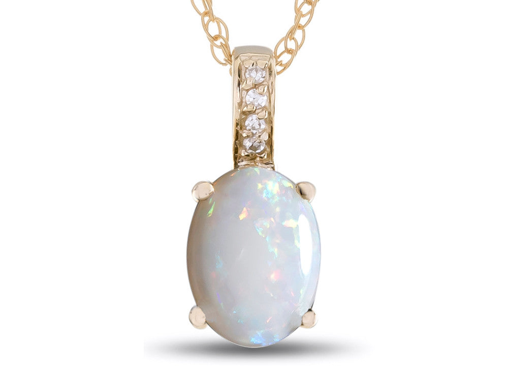LALI Classics 14kt Yellow Gold Opal Oval Pendant Necklace