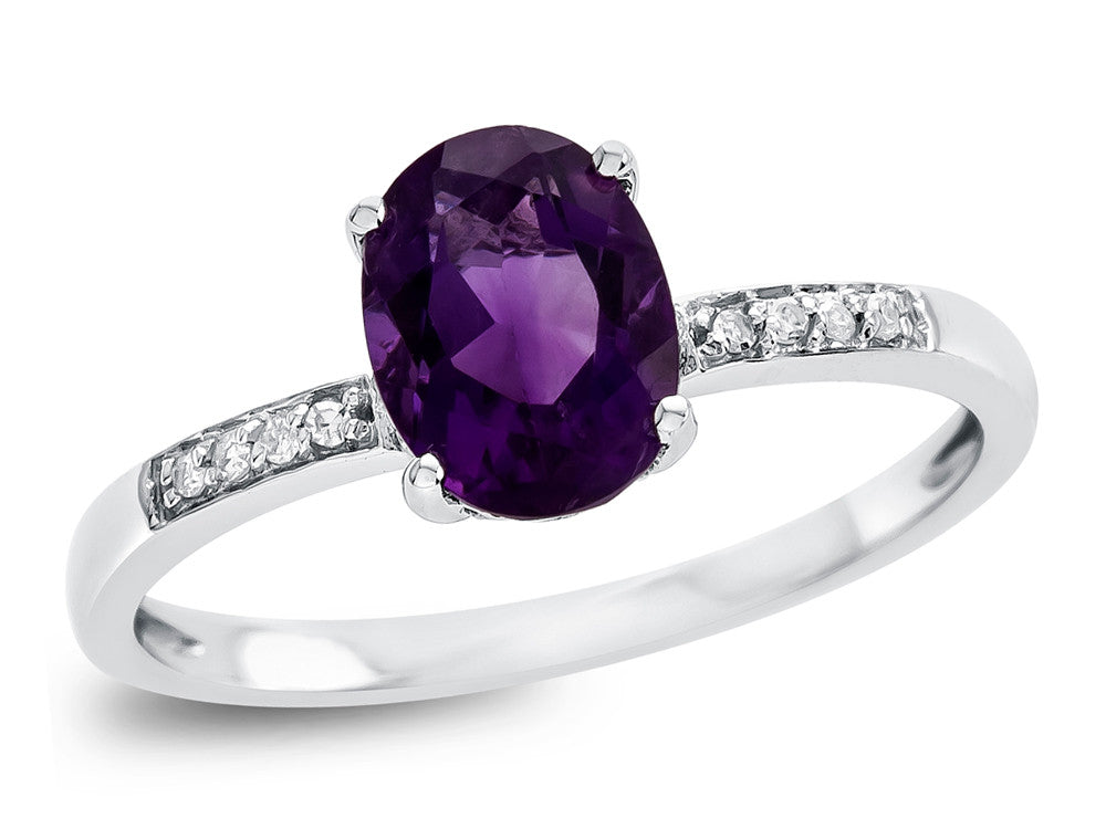 LALI Classics 14kt White Gold Amethyst Oval Ring