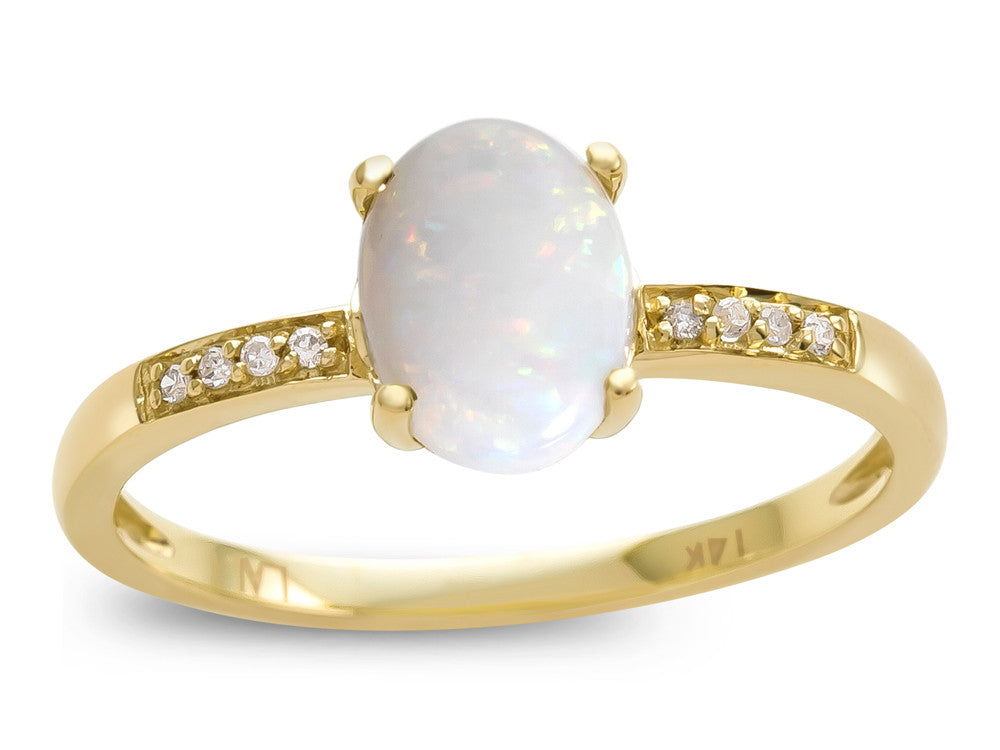 LALI Classics 14kt Yellow Gold Opal Oval Ring