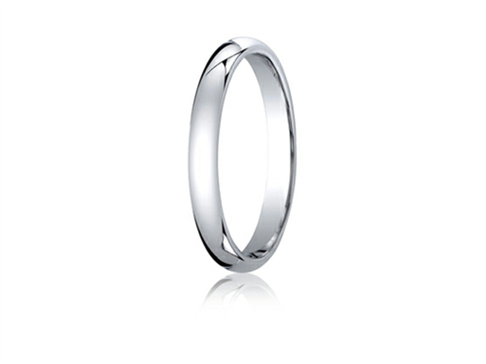 Benchmark 10k Gold 3mm Slightly Domed Standard Comfort-fit Ring
