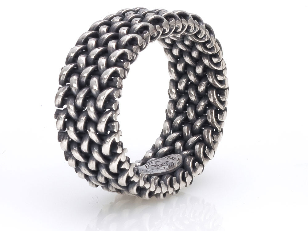 Mariano Di Vaio - Sterling Silver Small Light Mesh Ring