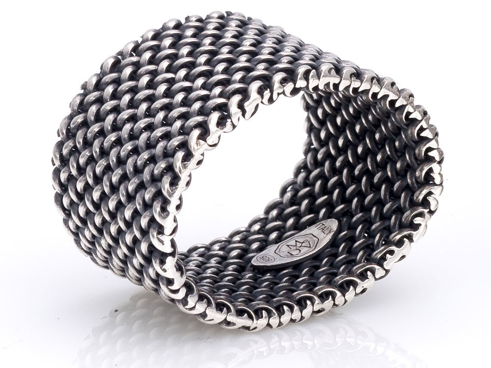 Mariano Di Vaio - Sterling Silver Light Mesh Ring