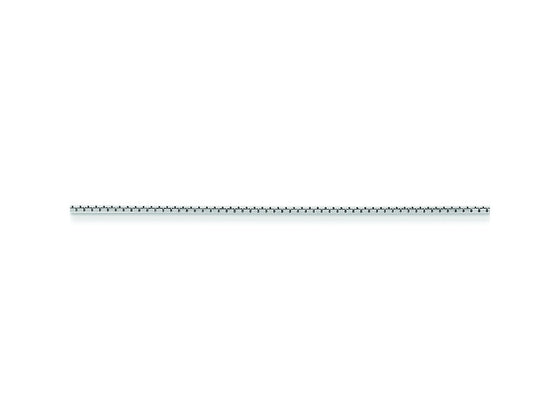 16 Inch Sterling Silver 1.15mm 8 Side bright-cut Box Chain Necklace