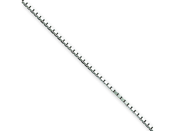 10 Inch Sterling Silver 1.10mm Box Chain Necklace