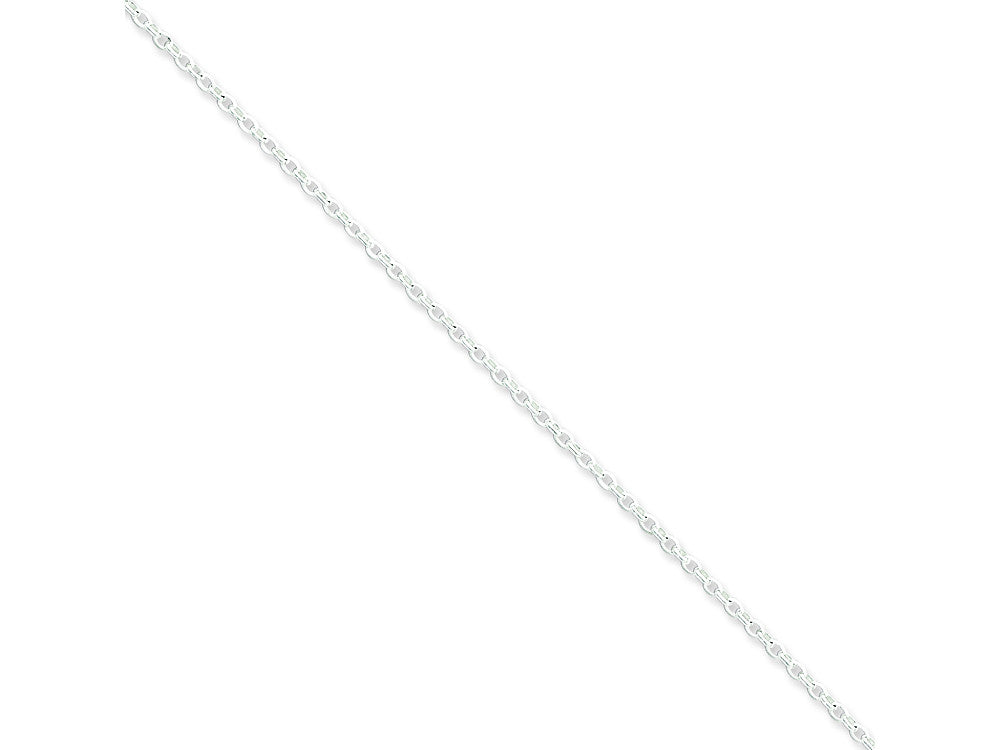 Sterling Silver 2mm Long Link Rolo Chain Necklace