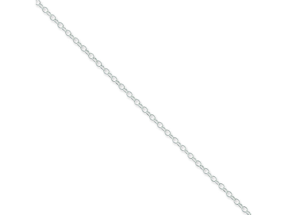 16 Inch Sterling Silver 2.25mm Oval Cable Chain Necklace