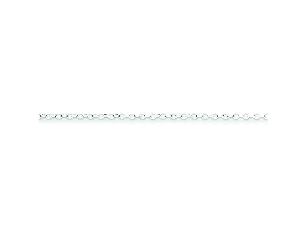 16 Inch Sterling Silver 1.75mm 8 Side bright-cut Cable Chain Necklace