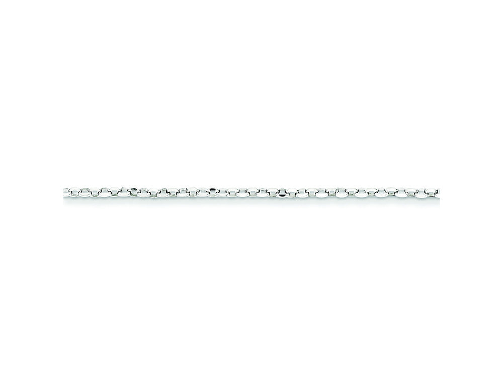 16 Inch Sterling Silver 2mm 8 Side bright-cut Cable Chain Necklace
