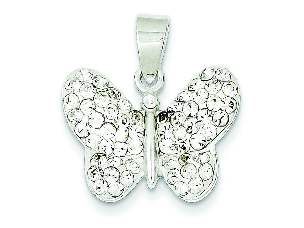 Sterling Silver Stellux Crystal Butterfly Slide