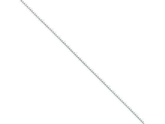 16 Inch Sterling Silver 1mm Mirror Box Chain Necklace