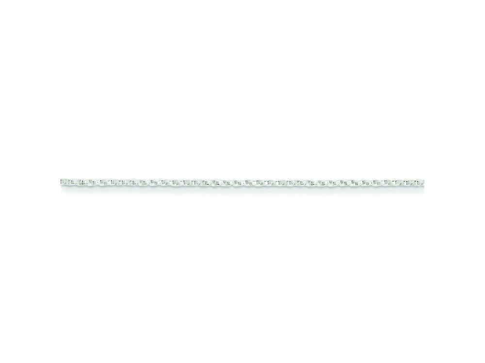 18 Inch Sterling Silver 1.25mm Twisted Box Chain Necklace