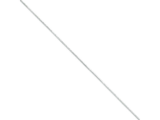 16 Inch Sterling Silver .7mm 4 Sided bright-cut Mirror Box Chain Necklace