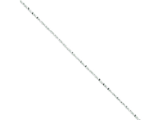 16 Inch Sterling Silver 1.4mm bright-cut Fancy Chain Necklace