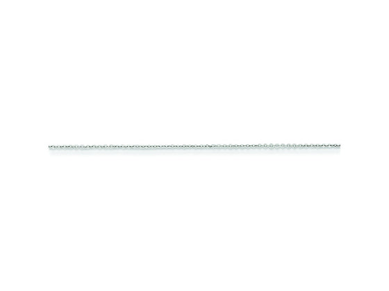 16 Inch Sterling Silver 0.5mm 8 Sided bright-cut Cable Chain Necklace