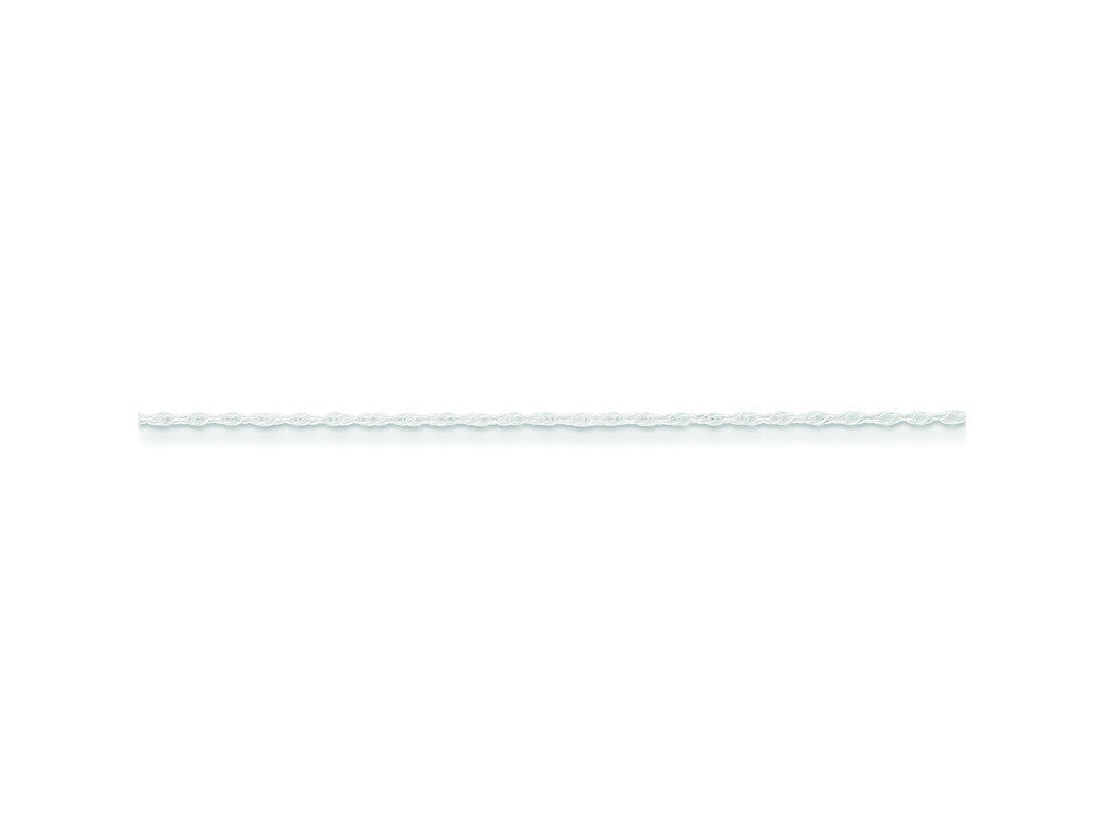 16 Inch Sterling Silver Round Spiga 1.00mm Chain Necklace