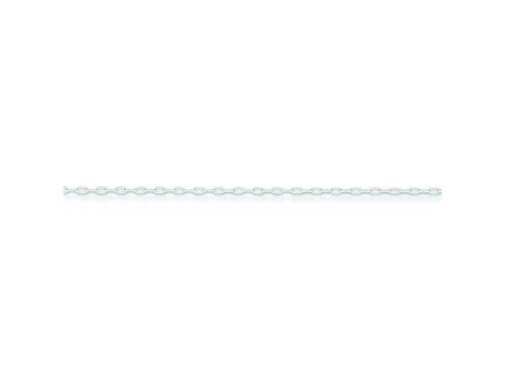 16 Inch Sterling Silver 1mm Cable Chain Necklace