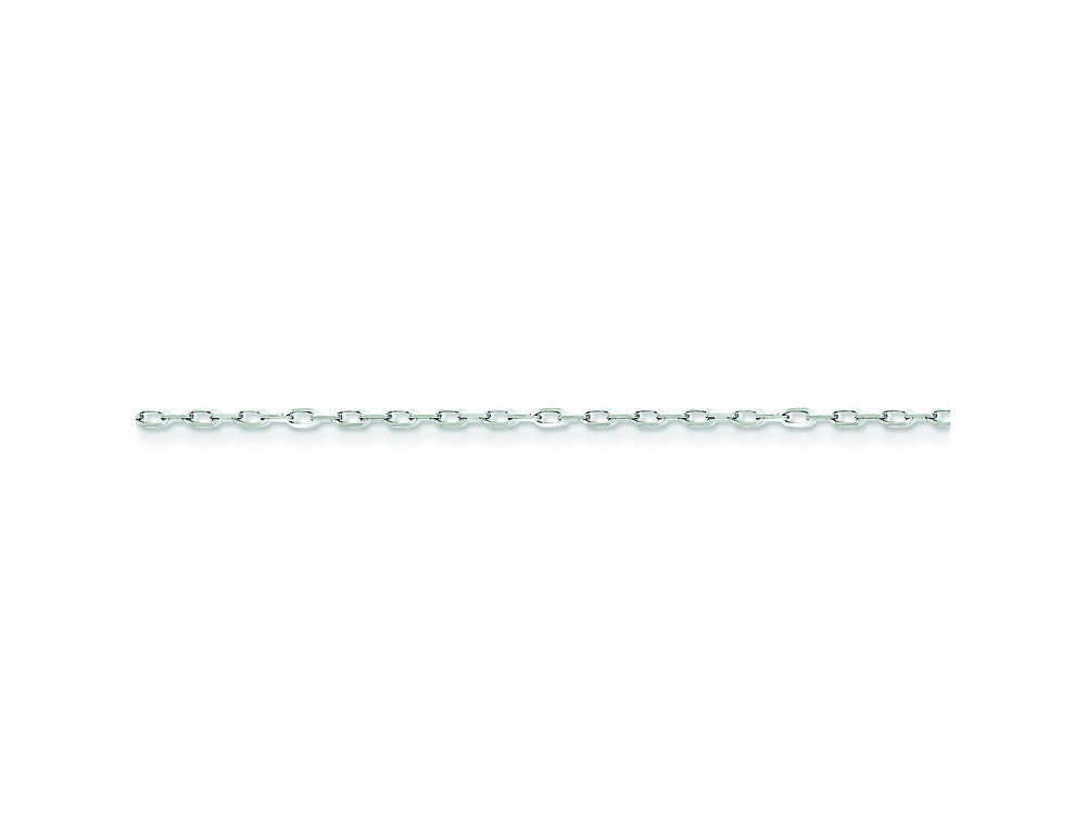 16 Inch Sterling Silver 1.1mm 8 Sided bright-cut Cable Chain Necklace