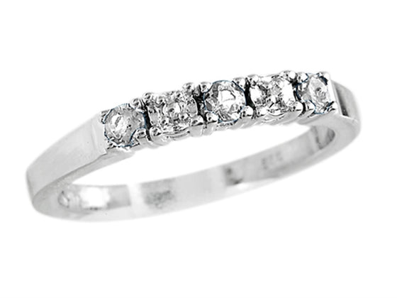 Finejewelers 2.5mm White Topaz Band / Ring