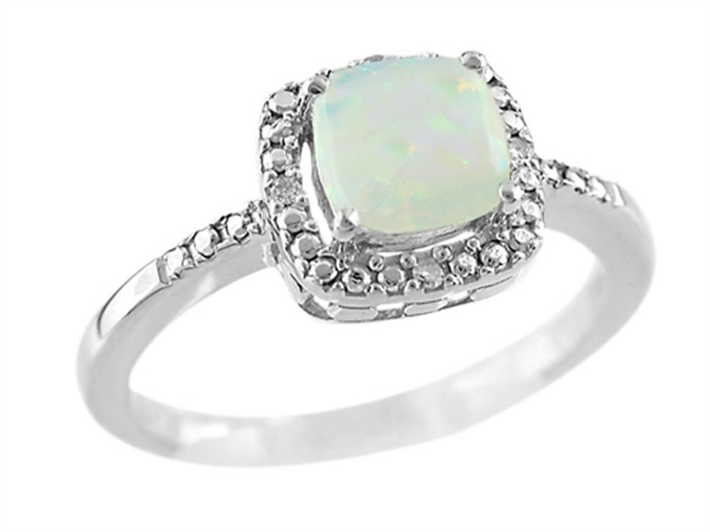Finejewelers 6x6mm Cushion Shaped Opal Ring