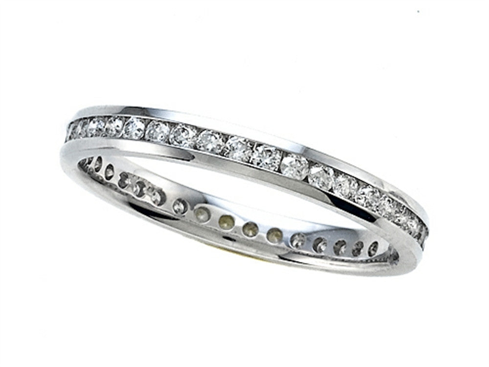 0.55 cttw Round Diamonds Eternity Band - IGI Certified
