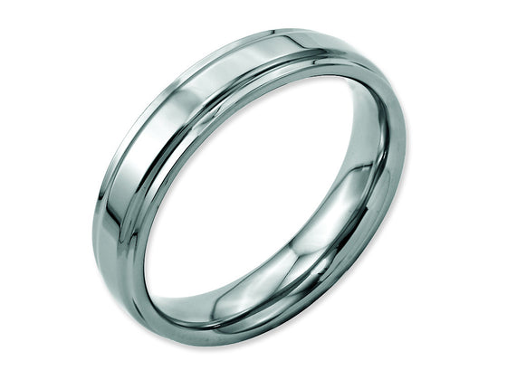 Chisel Stainless Steel Ridged-edge 5mm Polished Weeding Band