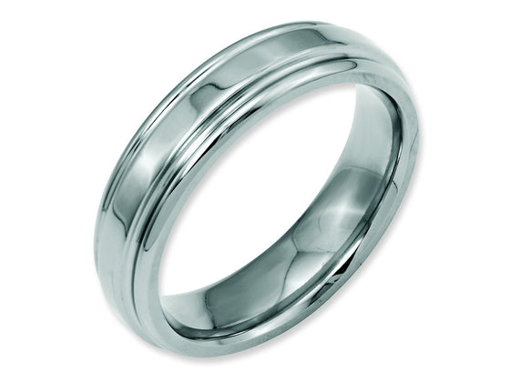 Chisel Stainless Steel Ridged Edge 6mm Polished Weeding Band