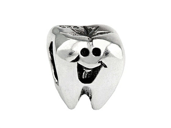 SilveRado Sterling Silver Kids First Tooth Bead / Charm