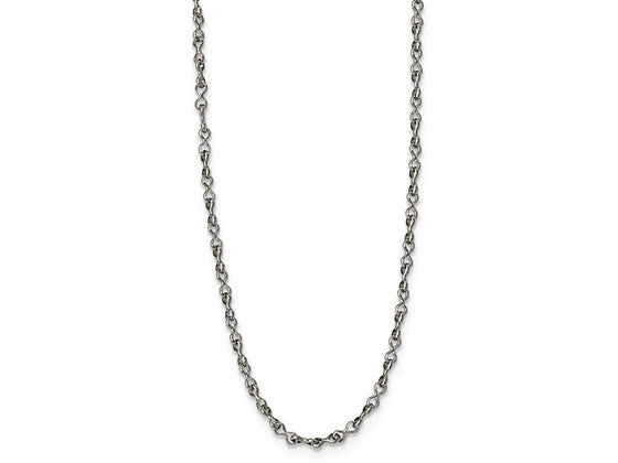 Chisel Stainless Steel Polished 2.0mm 18in Fancy Link Chain Necklace