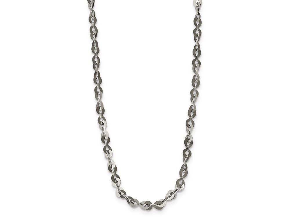 Chisel Stainless Steel Polished 3.30mm  Fancy Link Chain Necklace