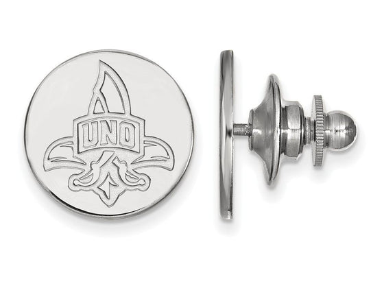 LogoArt Sterling Silver University Of New Orleans Lapel Pin