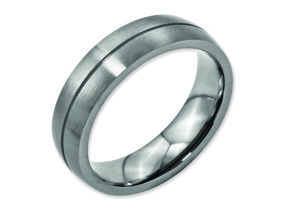 Chisel Titanium Grooved 6mm Satin Weeding Band