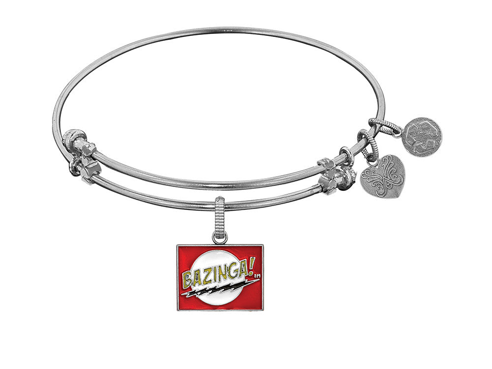 Brass With White Finish  Bazinga Charm For Angelica Collection Bangle
