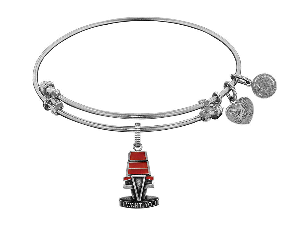 Brass White The Voice Chair Charm For Angelica Collection Bangle