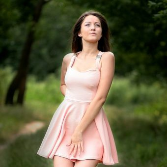 Girl-has-a-pink-dress