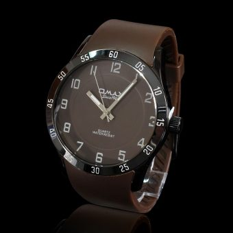 Brown-leather-watch-on-a-black-background