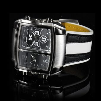 Black-and-white-leather-watch