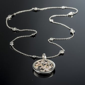 Silver-watch-pendant