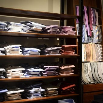 A-lot-of-shirts-on-a-shelf