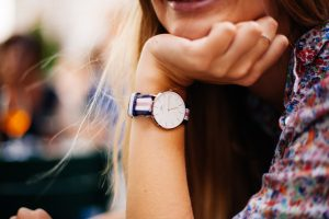 Girl-with-a-fashion-watch