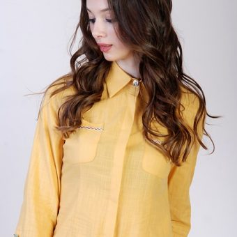 Cute-girl-has-a-yellow-shirt