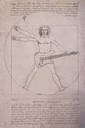 DA VINCI rock art poster FUNNY UNIQUE JAM STYLE music genius spoof 24X36