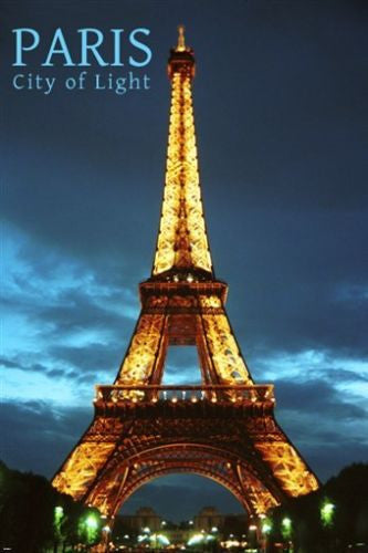 PARIS city of LIGHT inspirational POSTER 24X36 EIFFEL TOWER lit within NEW