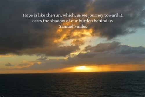 beautiful sunset HOPE IS LIKE THE SUN inspirational poster 24X36 peace