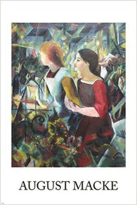 1913 august macke VINTAGE ART POSTER woman holding bread COLLECTORS 24X36