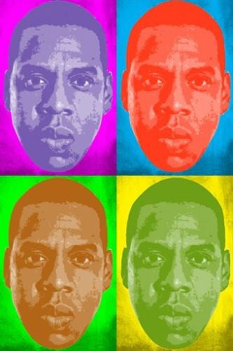 JAY Z celebrity singer POP ART POSTER MULTIPLE IMAGES colorful 24X36 new