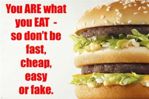 fast food hamburger MOTIVATIONAL POSTER 24X36 HILARIOUS healthy eating NEW!