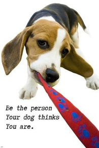 TAKE me for a WALK doggie INSPIRATIONAL poster 24X36 ADORABLE animal GEM