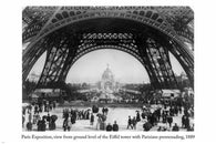 1889 PARIS EXPOSITION ground level of EIFFEL TOWER photo poster 24X36