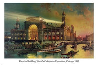 ELECTRICAL BUILDING 1892 World's Columbian Exposition FINE ARTS POSTER 24X36